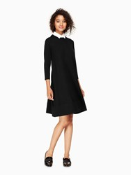 Kate Spade Collared Sweater Dress Black