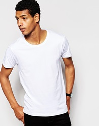 Selected Homme Crew Neck T Shirt In Pima Cotton White
