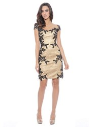 Decode 1.8 Floral Satin Sheath Dress Honey Black