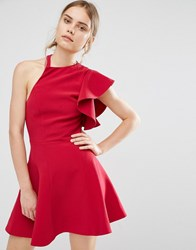 C Meo Collective Heart Commands Dress Raspberry Red