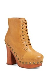 Women's Jeffrey Campbell 'Loki' Studded Platform Boot Dark Tan
