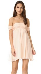 Rachel Zoe Off The Shoulder Dress Blush