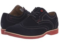 Hush Puppies Fowler Ez Dress Navy Suede Men's Lace Up Wing Tip Shoes Blue