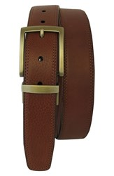 Men's Boconi Reversible Leather Belt Cognac Tan