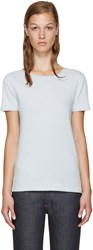 A.P.C. Blue And White Helen T Shirt