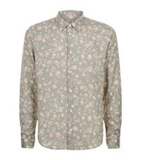 Sandro Love Floral Shirt Male Green