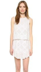 Bcbgmaxazria Vivian Dress White Combo