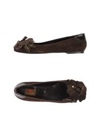 Braccialini Ballet Flats Dark Brown