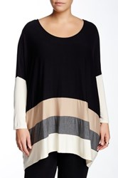 West Kei Oversized Stripe Blouse Plus Size Multi