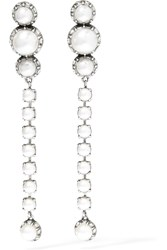 Lanvin Burnished Silver Plated White Silver