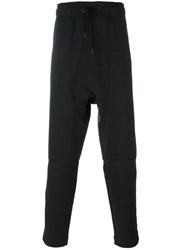 Tom Rebl Elasticated Waistband Drop Crotch Trousers Blue
