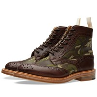 Trickers End. X Tricker's Camo Insert Kelmscott Boot Brown