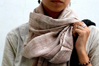 Merino Wool Scarf Handwoven In Bikanerrajasthan By Thecharkha