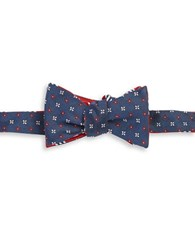Brooks Brothers Reversible Silk Bow Tie Red