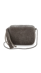 Lauren Merkin Handbags Glitter Meg Cross Body Bag Pewter