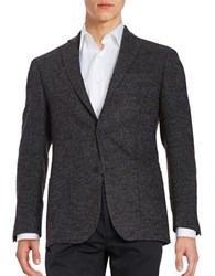 Michael Kors Textured Two Button Wool Blend Jacket Chocolate