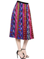 Ingie Abstract Striped Jacquard Midi Skirt