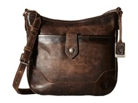 Frye Melissa Button Crossbody Slate Cross Body Handbags Metallic