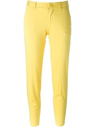 Pt01 Slim Chino Trousers Yellow And Orange