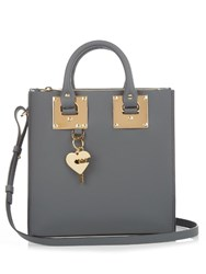 Sophie Hulme Square Albion Leather Tote Grey