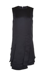 Tibi Satin Layered Tunic With Purl Merrow Edge