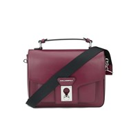 Karl Lagerfeld Women's K Pin Closure Satchel Bordeaux