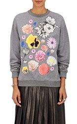Christopher Kane Women's Flower Graphic Sweatshirt Grey