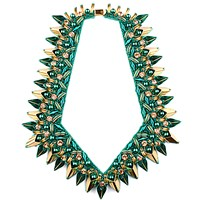 Begada Luxe Necklace Teal And Antique Gold