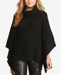 Polo Ralph Lauren Cable Knit Poncho Polo Black