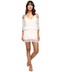 Becca Poetic Cold Shoulder Dress Cover Up White Women's Swimwear