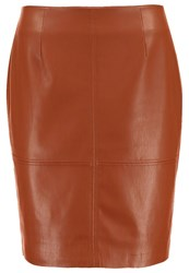 Comma Mini Skirt Cognac