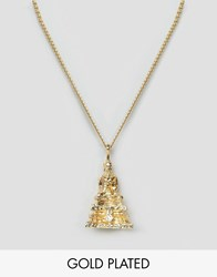 Love Bullets Lovebullets Buddha Pendant Necklace In Gold Gold