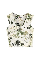 Floral Co Ord Crop Top By Wal G White