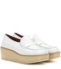 Tomas Maier Leather Platform Loafers White