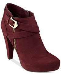 G By Guess Taylin Platform Dress Booties Women's Shoes Wine