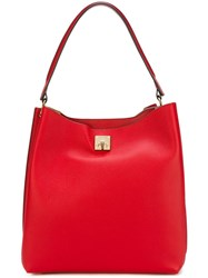 Mcm Gold Tone Hardware Big Tote Red