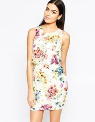 Lipsy Shift Dress In Floral Lace Floral