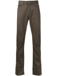 Kent And Curwen Slight Stretch Straight Jeans Green