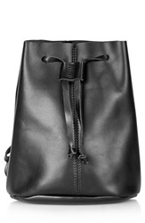 Topshop Leather Backpack