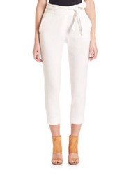 Iro Cropped Linen Blend Pants White