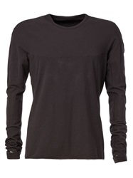 Isaac Sellam Experience Thumb Hole Long Sleeve T Shirt Black
