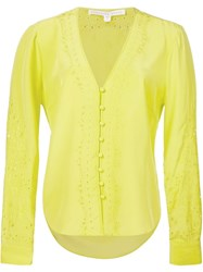 Veronica Beard Embroidered Shirt Yellow And Orange
