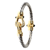 Adele Marie Twisted Bracelet Gold Silver