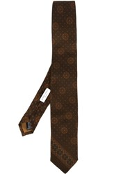 Boglioli Printed Tie Brown