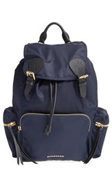 Burberry Prorsum Nylon Backpack Blue Navy