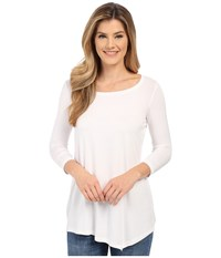 Nydj City Sport Leah Basic 3 4 Sleeve Tee Optic White Women's T Shirt