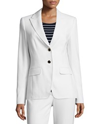 Escada Long Sleeve Two Button Blazer Off White