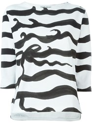 Tsumori Chisato 'Wave Stripe' T Shirt Black