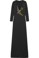 Gucci Embellished Silk Satin Gown