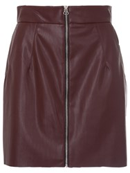 French Connection Faux Leather Mini Skirt Coffee Bean